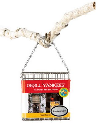 Droll Yankees Premium Suet Feeder 5 In. X 5 In. X 1.5 In. Stainless Steel