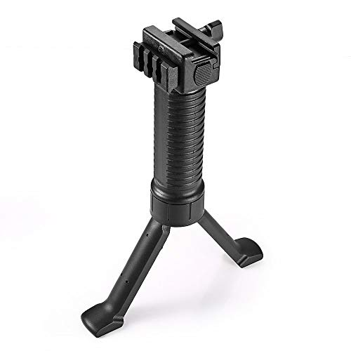 X-Hunter Foldable Vertical Retractable Bipod Fore Grip for Picatinny Weaver Rail Mount