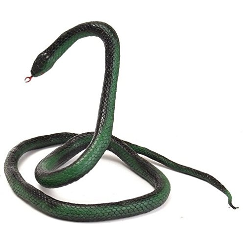 CHY Realistic Manmade Soft Rubber Animal Fake Snake Garden Props Joke Prank Toy 52 Inch Long Simulated Animal Snake Decoration Fake Snake for Home Party Christmas Display -