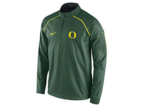 Nike Oregon Ducks Adult Size X-Large XL NCAA Authentic Alpha Fly Rush Half Zip Performance Pullover / Jacket - Green w/ Gold Accent by Nike