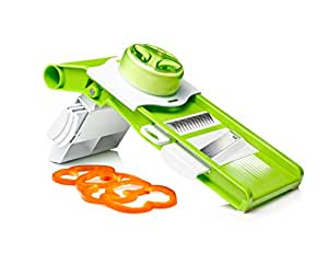Art and Cook Foldable Mandoline Slicer and Grater, Green/White