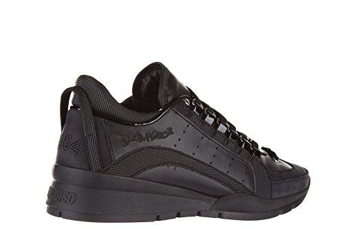 Dsquared2 chaussures baskets sneakers homme en cuir 551 noir