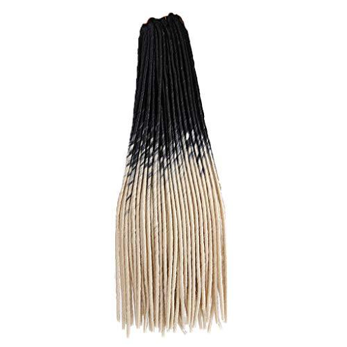 Willsa Fashion Charm Pretty Woman Girl Gradient Color Twist Crochet Braids Extensions Wigs