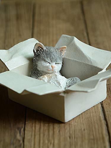 Gemmia Cat Fairy Figurine- Box Stray cat & Rat