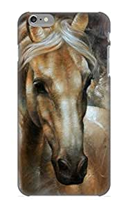 Hard Plastic Iphone 6 Plus Case Back Cover, Hot Head Horse 2 Case For Christmas's Perfect Gift