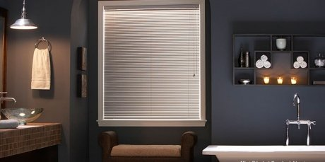 Premium White 1″ Inch Aluminum Blind 34.5″ (34 1/2) W x 48″ L (Actual Size 34″ x 48″) – Custom Cut