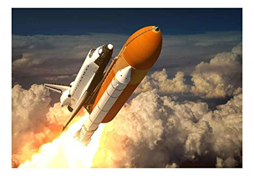 Rocket Ship Blasting off into Space Wall Mural