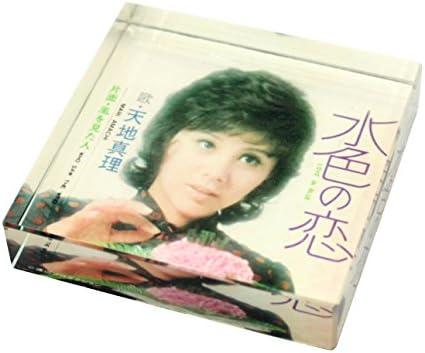 [해외]동경 ミモレ 천지 진리 바다색 사랑 유리 페이퍼 웨이트 レコジャケグッズ / Tokyo Mimore Heaven and Earth Mari Light Blue Love Glass Paper Weight Rekojaque Goods
