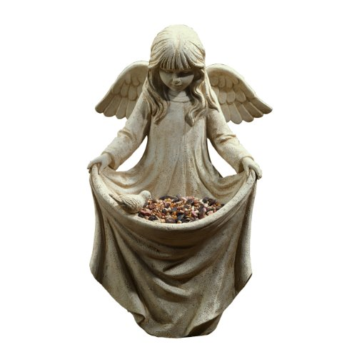 - Grasslands Road Villa Cherub Girl Birdfeeder Statuary
