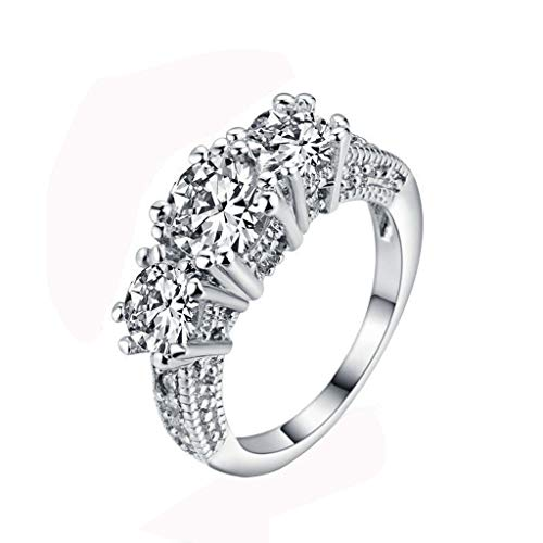 Toponly Cubic Zirconia Diamond Eternity Engagement Wedding Band Ring for Girls Mother by Toponly (Image #6)