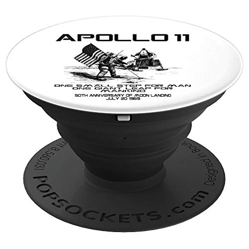 Apollo 11 50th Anniversary Moon Landing One Small Step Gift PopSockets Grip and Stand for Phones and Tablets