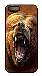 Grizzly Growl Bear Custom PC Hard For Iphone 5C Phone Case Cover Black