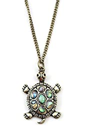 Linana Vintage Tortoise Turtle Long Necklace for Women Fashion Jewelry