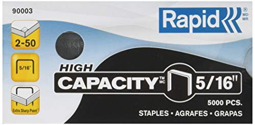 Rapid High Capacity Staples, 5/16-Inch, 5,000 Per Box (90003)