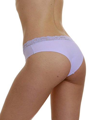 LisaModa Damen Panty 6er Pack Mikrofaser mit Spitze Farbmix Mehrfarbig l4uybiuf