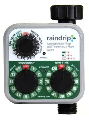 Raindrip R675CT Electronic Analog Water Timer, Battery-Operated, 3/4-In. Hose
