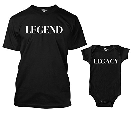 ng Bodysuit & Men's T-Shirt (Black/Black, Medium/24 Months) ()