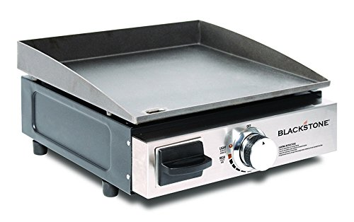 Portable Griddle (Blackstone Table Top Grill - 17 Inch Portable Gas Griddle - Propane Fueled - For Outdoor Cooking While Camping, Tailgating or Picnicking)