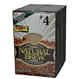 Natural Brew #4 Coffee Filters 3pk x 100 Filters Each