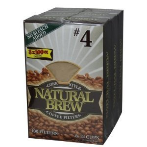 Natural Brew #4 Coffee Filters 3pk x 100 Filters Each by Unknown