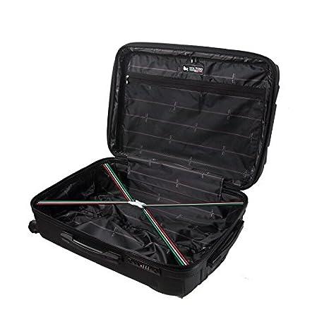 Mia Toro Italy Nicosia Hardside Spinner Luggage 3pc Set-Black