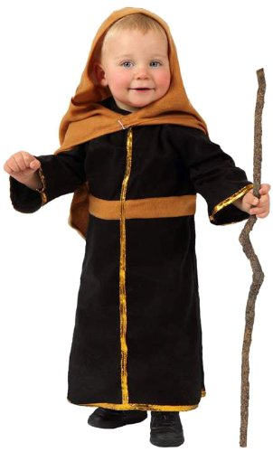 Atosa-12775 Atosa-12775-Disfraz De San José niño bebé-Talla Navidad, Color marrón, 0 a 6 meses (12775