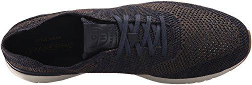 Cole Haan Men's Grandpro Runner Stitchlite Sneaker, Black-Magnet Knit, 14 D(M) US Navy Peony/Morel