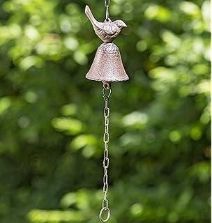 Campana Indira de puerta con pajaro. Hierro fundido. 35cm. Colgante 24cm