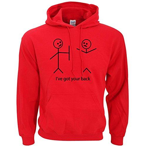 YFF Uomini Hoodie Abbigliamento Casual Fitness,rosso,XL