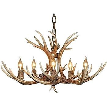effortinc retro resin antler chandeliers not included - Antler Chandelier