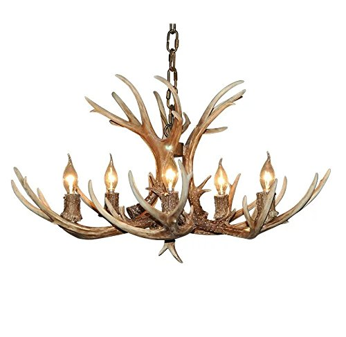 Effortinc retro resin antler chandeliers amazon lighting effortinc retro resin antler chandeliers mozeypictures Choice Image