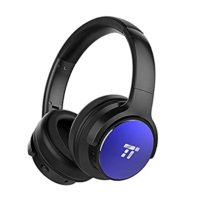 TaoTronics Active Noise Cancelling Bluetooth Headphones HiFi Stereo Wireless Over Ear Deep Bass Headset w/CVC Noise Canceling Microphone 30 Hour Playtime