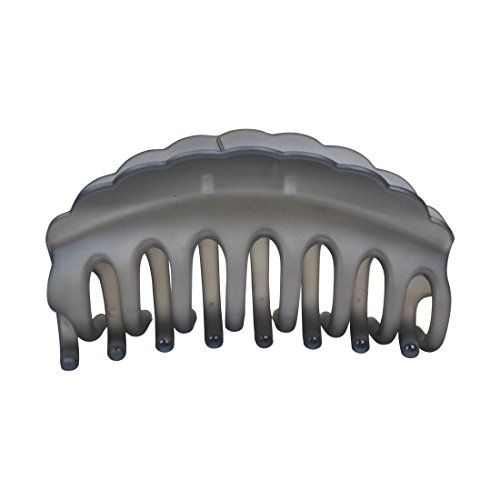 Pearlized Large Jaw Clip Hair Claw - Grey
