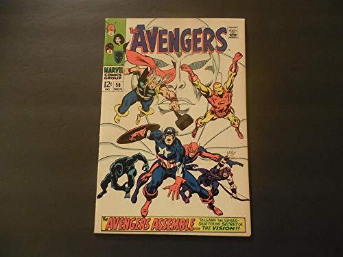(Avengers #58 Nov 1968 Silver Age Marvel Comics)