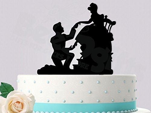 Amazon.com: Cinderella Glass Slipper Fit Inspired Wedding Cake ...