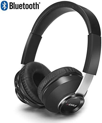 Bluetooth Over Ear Headphones,Wireless Headphones with Microphone, Volume Control,Soft Memory-Protein Earmuffs, Hi-Fi Music Headset for PC Cell Phones TV