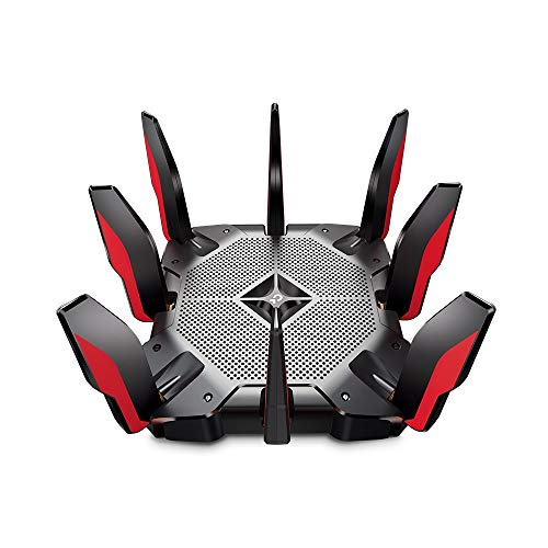 TP-Link Archer AX11000 Next-Gen Tri-Band Gaming Router Wi-Fi 6 UltraFast Speed 10 Gbps Smart with 1.8GHz 64bit Quad-Core CPU, Compatible with Amazon Alexa
