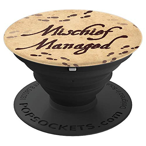 Brave New Look Footprints Mischief Managed Pop Sockets Stand for Smartphones and Tablets - PopSockets Grip and Stand for Phones and Tablets