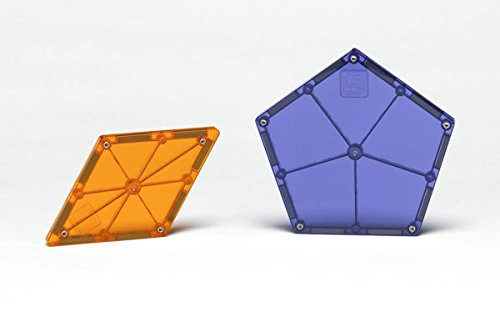 Magna Tiles 8Piece Polygons Expansion Set - The Original, Award-Winning Magnetic Building Tiles - Creativity & Educational - STEM Approved
