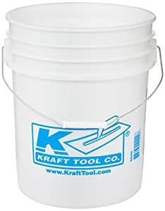 Kraft Tool GG468 Plastic Bucket without Lid, 5-Gallon