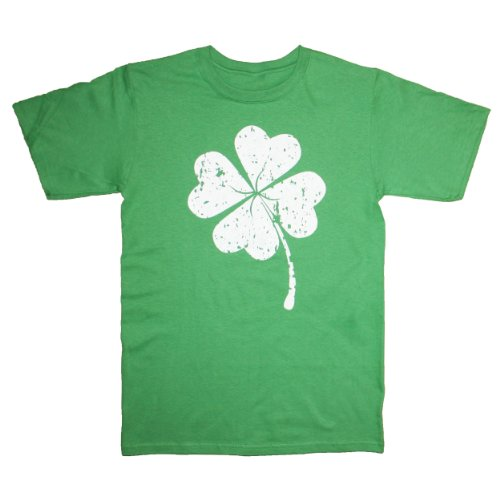 Happy Family St. Patrick's Day Lucky Shamrock Four Leaf Clover Mens T Shirt (Large, Green)