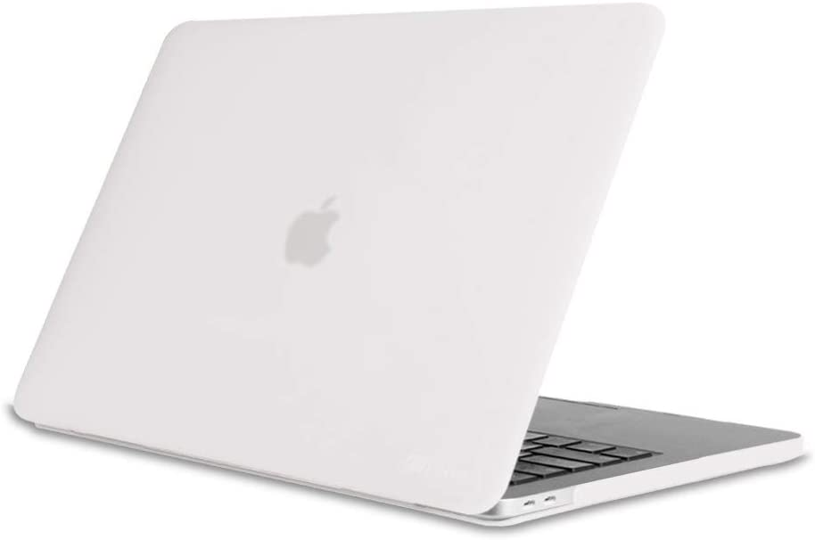 Fintie Case for MacBook Pro 15 (2019 2018 2017 2016 Release) - Protective Snap On Hard Shell Cover for Newest MacBook Pro 15 Inch A1990 A1707 with Touch Bar and Touch ID, Frost Clear