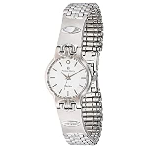Philippe Moraly Women's White Dial Stainless Steel Band Watch - M0106WW