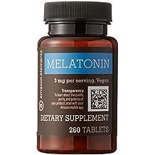 Amazon Brand - Amazon Elements Melatonin 3mg, Vegan, 260 Tablets, 8 month supply