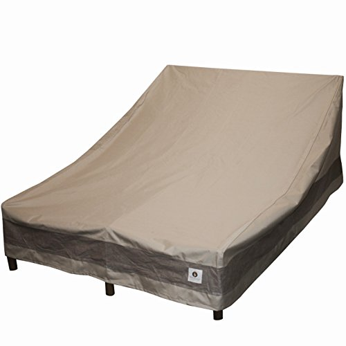 Duck Covers Elegant Double Patio Chaise Lounge Cover, 82-Inch (Outdoor Chaise Double Furniture)