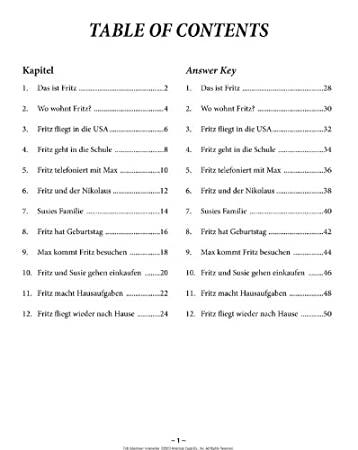 Amazon.com : Fritz Abenteuer in Amerika Activity Book : Office ...