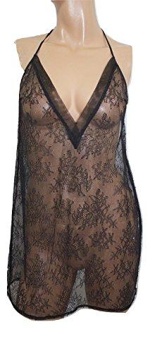 ry Sexy Lingerie Slip Lace Babydoll Medium NWT Sleepwear Black ()