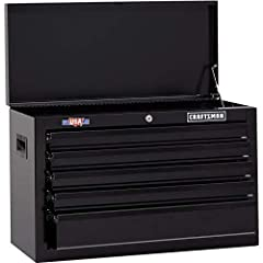 Proudly made in the he USA with global materials in Sedalia, Missouri. The 1000 Series 26-in Wide 5 Drawer Tool Chest is a great helper for any handyman. Arrange all your tools in the five shallow drawers in a single layer making them easy to...