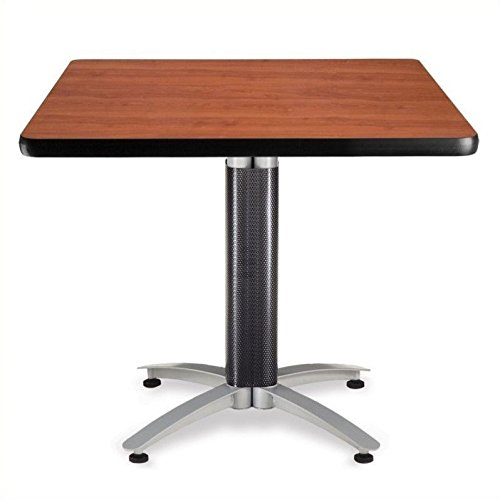 OFM KMT36SQ-CHY Square Multi-Purpose Table, Metal Mesh Base, 36'', Cherry by OFM