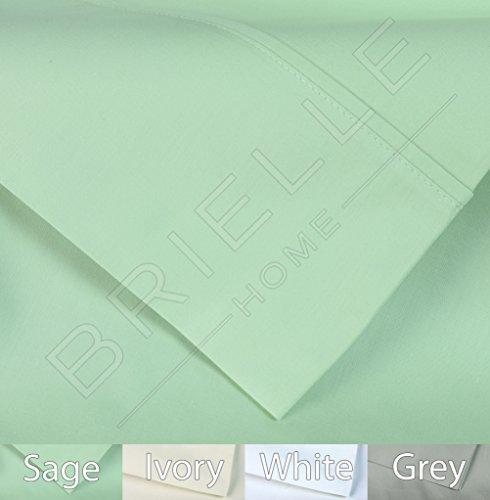 - Brielle 400 Thread Count Egyptian Cotton Sateen Fine Sheet Set, Queen, Hemlock Sage